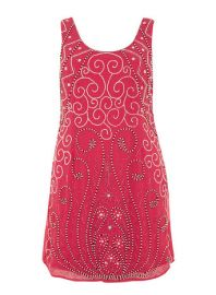 Lovedrobe Fuchsia Beaded Dress at Dorothy Perkins