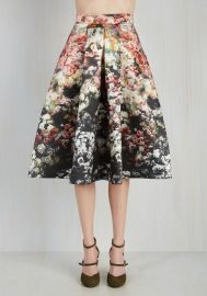 Loveliest Luncheon Skirt in Ombre Bouquet at ModCloth