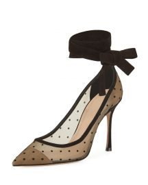 Lovely- D Plumetis Ankle-wrap Pump by Dior at Bergdorf Goodman