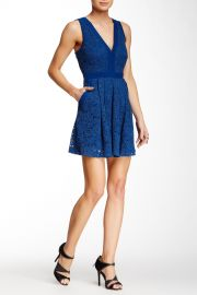 Lovely In Lace Fit andamp Flare Dress at Nordstrom Rack