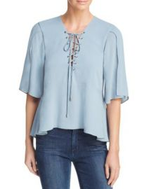 Lovers   Friends Boulevard Lace-Up Top at Bloomingdales