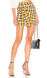 Lovers   Friends Quinn Skirt in Yellow Plaid from Revolve com at Revolve