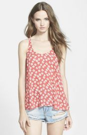 Lucca Couture Floral Print Swing Tank at Nordstrom
