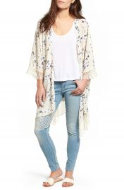Lucca Couture Lace Trim Kimono at Nordstrom