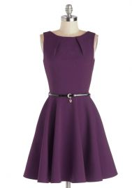 Luck Be a Lady Dress in Violet at ModCloth