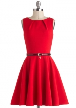 Luck by a lady dress in Red at Modcloth
