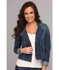 Lucky Brand Addisyn Denim Moto Jacket Zebulon at 6pm