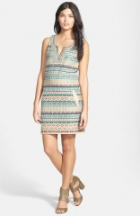 Lucky Brand Beaded andamp Embroidered Shift Dress at Nordstrom