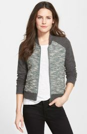 Lucky Brand Bomber Sweater Jacket at Nordstrom