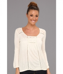 Lucky Brand Cailey Cut Out Top in Nigori at 6pm