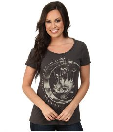 Lucky Brand Cosmic Moon Tee Black Mountain at Zappos