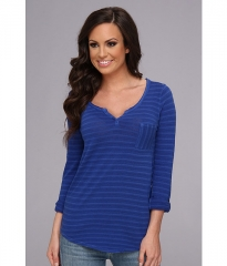 Lucky Brand Costa Mesa Pocket Top in Blue at 6pm
