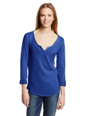 Lucky Brand Costa Mesa Top in blue at Amazon