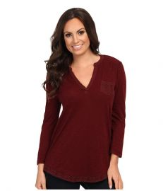 Lucky Brand Crochet Mixed Top Fall Red at 6pm