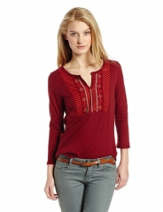 Lucky Brand Embroidered Bib Top at Amazon