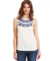 Lucky Brand Embroidered Tank Top - Women - Macys at Macys