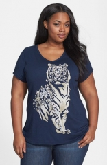 Lucky Brand Floral Tiger Tee at Nordstrom