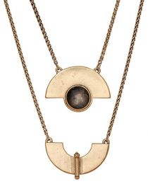 Lucky Brand Gold Tone Geo Labrodiate Necklace at Lord & Taylor