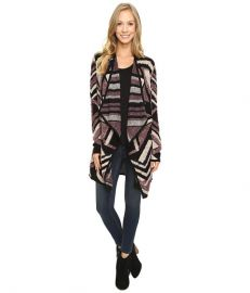 Lucky Brand Intarsia Cardigan Multi at 6pm