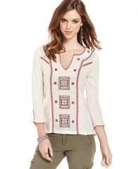 Lucky Brand Jeans Embroidered Top - Tops - Women - Macys at Macys
