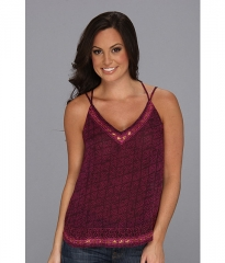Lucky Brand Marrakech  Embellished Cami Potent Purple Multi at 6pm