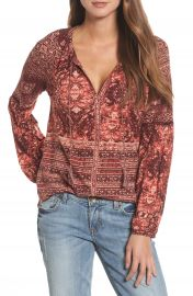 Lucky Brand Mixed Print Top at Nordstrom