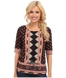 Lucky Brand Nyla Cinched Top Multi at Zappos