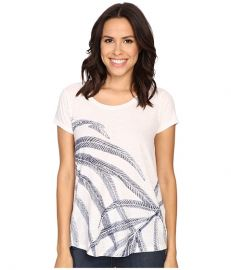 Lucky Brand Palm Fronds Tee Cloud Dancer at 6pm
