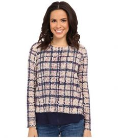Lucky Brand Plaid Printed Pullover at 6pmcom at 6pm