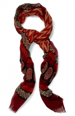 Lucky Brand Print Wool Scarf at Nordstrom