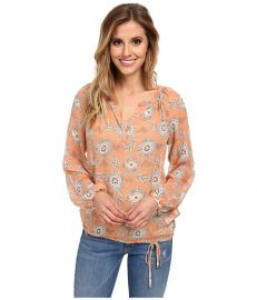 Lucky Brand Riviera Floral Peasant Coral Multi at 6pm
