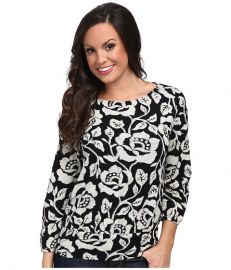 Lucky Brand Rose Vine Top Black Multi at 6pm