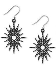Lucky Brand Silver-Tone Pav eacute  Starburst Drop Earrings Jewelry   Watches -  Fashion Jewelry - Macy s at Macys