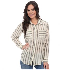 Lucky Brand Striped Button Down Natural Multi at 6pm