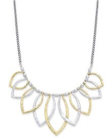 Lucky Brand Two Tone Petal Statement Necklace at Macys