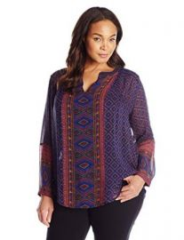 Lucky Brand Women  39 s Plus-Size Placed Geo Top at Amazon
