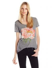 Lucky Brand Womenand39s Coral Flower Tee at Amazon