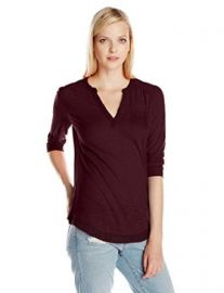 Lucky Brand Womenand39s Crochet Mixed Top at Amazon