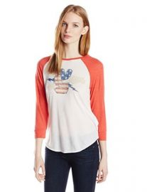 Lucky Brand Womenand39s Fender Rock Raglan Tee at Amazon