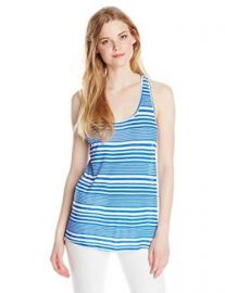 Lucky Brand Womenand39s Lotus Knotted Tank In Blue Multi at Amazon