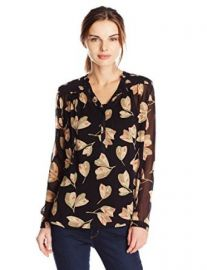 Lucky Brand Womenand39s Mixed Floral Top at Amazon