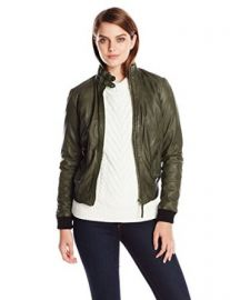 Lucky Brand Womenand39s Olive Bomber Jacket at Amazon