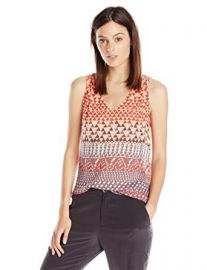 Lucky Brand Womenand39s Ombre Geo Tank at Amazon