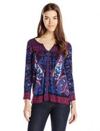 Lucky Brand Womenand39s Paisley Scarf Top at Amazon