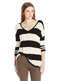 Lucky Brand Womenand39s Wide Stripe Top at Amazon