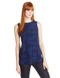 Lucky Brand Womenand39s Zig Zag Print Top at Amazon