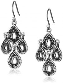 Lucky Brand Womens Blue Moon Moveable Tribal Chandelier Earrings at Amazon