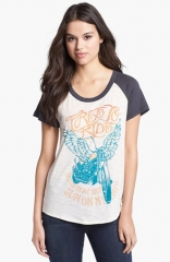 Lucky Brand Zip Back Graphic Tee at Nordstrom