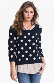 Lucky Brand and39Paulaand39 Polka Dot Sweater at Nordstrom