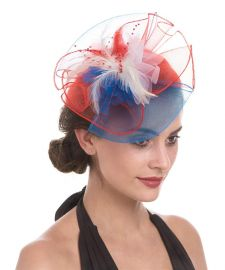 Lucky Leaf Women Girl Fascinators Hair Clip Hairpin Hat Feather Cocktail Wedding Tea Party Hat at Amazon